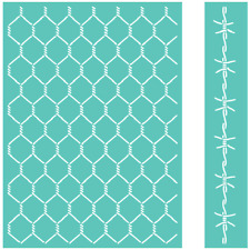 Cricut Cuttlebug Embossing Folder & Border  CHICKEN WIRE     NIP