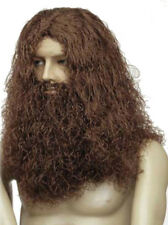Mens Caveman Wig Black Brown Red Grey Lord of the Rings Gimli Dwarf Hobbit Moses