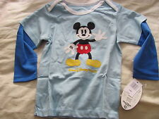 Mickey Mouse Blue Long Sleeve T Shirt 24 Months New with Tags
