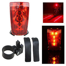 2 Laser + 5 LED Cycling Bicycle Bike Taillight Warning Lamp Flashing Alarm Light