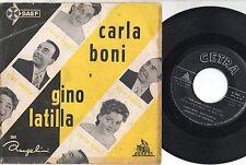 CARLA BONI GINO LATILLA disco 45 giri MADE in SPAIN Timida serenata SANREMO 1958