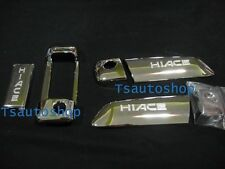 FOR TOYOTA HIACE COMMUTER 2005-2013 CHROME 3 DOOR HANDLE HAND COVER TRIM