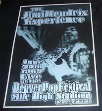 Jimi Hendrix Poster Denver Pop Festival 1969
