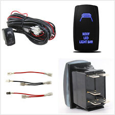 Autos 40A Roof LED Light Bar Wiring Harness Relay 5-Pin Rocker Switch Controller