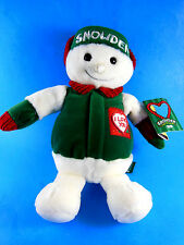 """Snowde Snowman Plush Doll 11"""" by Commonwealth 1998 Mint w Tags SOFT"""