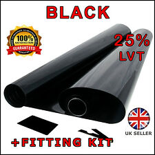 "2 x ROLL 3M x75CM (9'10"" x 2'6) MEDIUM SMOKE 25% CAR WINDOW TINT FILM TINTING"