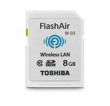 Toshiba FlashAir W-03 Disque Flash SSD interne 8 Go USB 3.0 Blanc