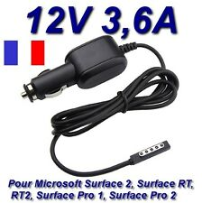 Chargeur Voiture Allume Cigare 12V 3,6A Tablette Microsoft Surface Pro1 Pro 1