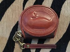 VINTAGE DOONEY BOURKE ALL WEATHER BROWN LEATHER BIG DUCK COIN PURSE