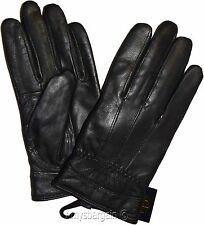 Leather Gloves, Size (M) Genuine leather Women's Black Hand warmer Winter Gloves