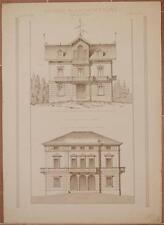 RICORDI DI ARCHITETTURA VILLINO BRONI PAVIA VOGHERA PIEMONTE 1884 ARCHITECTURE