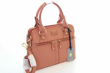 Modalu Pippa Brand New Coral Saffiano Leather Grab Bag Detachable Strap RRP £199