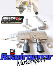 "Milltek Golf MK6 R Exhaust 3"" Race Turbo Back & Cat Non Res Non Valved Black Tip"