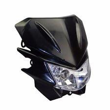 Black 35W Off Road Dirt Bike Enduro Motorcycle Headlight For Honda Streetfighter