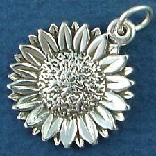 SUNFLOWER CHARM flower  sterling silver charms .925  Pendant
