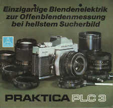 DRESDEN, Werbung 1978, Spiegelreflexkamera PRAKTICA PLC3