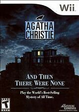 Nintendo Wii Agatha Christie: And Then There Were None game COMPLETE