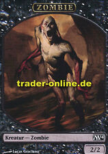 2x Spielstein - Zombie (Token - Zombie) Magic 2014 M14 Magic