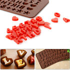 New Silicone Alphabet Letter Word Cake Topper Mold Cookies Chocolate Fondant UK