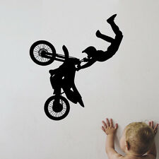 DIRT BIKE MX MOTOCROSS MOTORCYCLE DECAL WALL VINYL BOYS STICKER ROOM MURAL DECOR