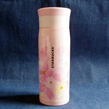 F/S Starbucks JAPAN stainless bottle tumbler SAKURA cherry blossom 2017 480ml