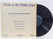 "Music of the Middle Ages "" 14th &15th Century English Polyphony LP NM w/insert"