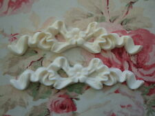 Shabby & Chic *Bow with Flower* Furniture Appliques 2 pcs. Architectural Onlay