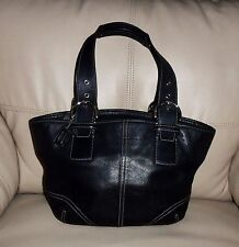 COACH SOHO BLACK LEATHER SHOULDER BAG  STYLE J3S-9544