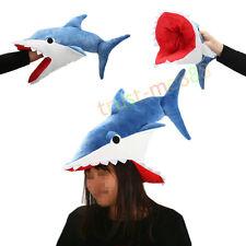 Shark Hat Eater Costume Cosplay Plush Funny Jaws Sharknado  Animal Unisex Gift