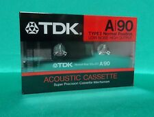1x TDK  A 90 (Type I) - Original* Vintage Audio Cassette* Made in Japan* 1987