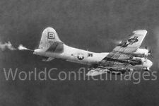 USAAF WW2 B-17 The Thomper 8x10 Photo Tail Gunner Firing Merseburg Raid WWII