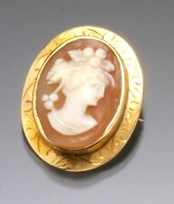 Cameo Brooch Gold-Filled Shell Cameo Brooch/Pendant Circa 1940s