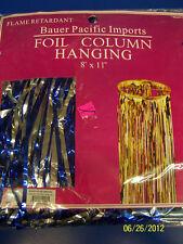 Hanging Foil Column 8 ft. Ocean Prom Theme Party Decoration - Blue & Silver