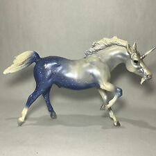 Rare BREYER TRADITIONAL HORSE STARDUST UNICORN #1146 RETIRED BLUE & WHITE