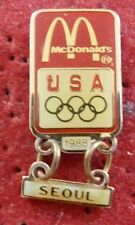 PIN'S SPORT JEUX OLYPIMQUES SEOUL 1988 MC DONALD'S USA