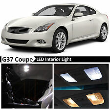 11x White Interior LED Lights Package Kit for 2008-2014 G37 Coupe + TOOL