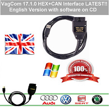 2017 ✔Vag-Com v17.1.0 ✔ HEX+CAN diagnostic cable with soft ✔English