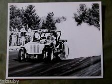 Vintage RACE CAR PHOTO WOLFORD JEEP DUNE BUGGY BURNING RUBBER Americana USA