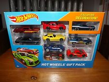 HOT WHEELS GIFT PACK, W / EXCLUSIVE DECORATION CHALLENGER, 9 CAR PACK, NIP, 2013
