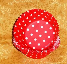 Red Dot Cupcake Papers,Polka Dot,Wilton,415-0148,Bake Cups, 75 ct.Holiday