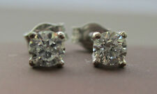 New 1/4 Quarter of a carat  .25ct Diamond 18ct White Gold Stud Earrings