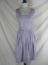 Vtg 40s 50s Purple Womens Cotton Full Skirt Vtg Party Dress W 28