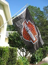 "Harley Davidson Bar & Shield Flag 3' X 5' - ""Selling Fast - Free Shipping"""