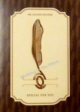 Feather - Gold-plated Stainless Metal Clip Bookmark with Card Perfect Gift