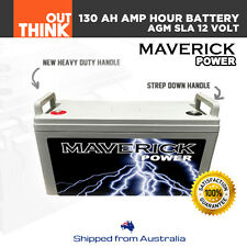 130AH AMP HOUR BATTERY AGM SLA 12 VOLT 12V DEEP CYCLE DUAL FRIDGE SOLAR CHARGE