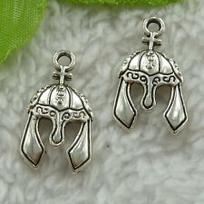 free ship 260 pieces tibet silver casque charms 25x13mm #3389