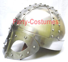 Medieval Viking Mask Knight Delux Helmet FREE Liner & Chain For Man-Replica