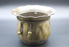 Vintage Solid Brass Flower Garden Planter Plant Pot