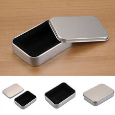 HOT Lighter Packaging Tin Iron Box Metal Box For Lighter Case Silver NEW