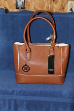 New Mondani Rita Tote Satchel Womens Brown Faux Leather Handbag Purse